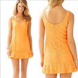 LILLY PULITZER Sevilla Dress in Keen Peach Large